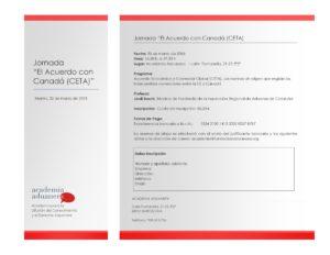 Jornada - El Acuerdo con Canadá - CETA