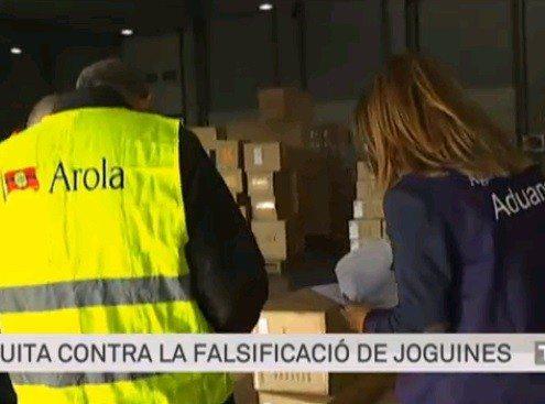 La Aduana y Arola en TV3 - contra la falsificación de juguetes