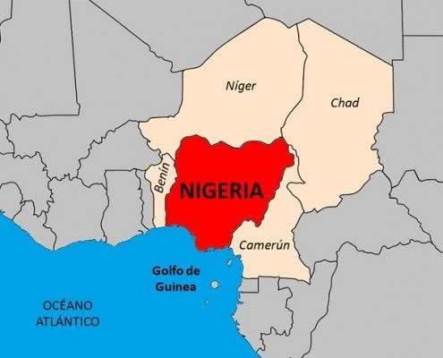 mapa de nigeria